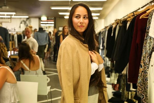 Anneke Isabelle wearing Stussy Coat